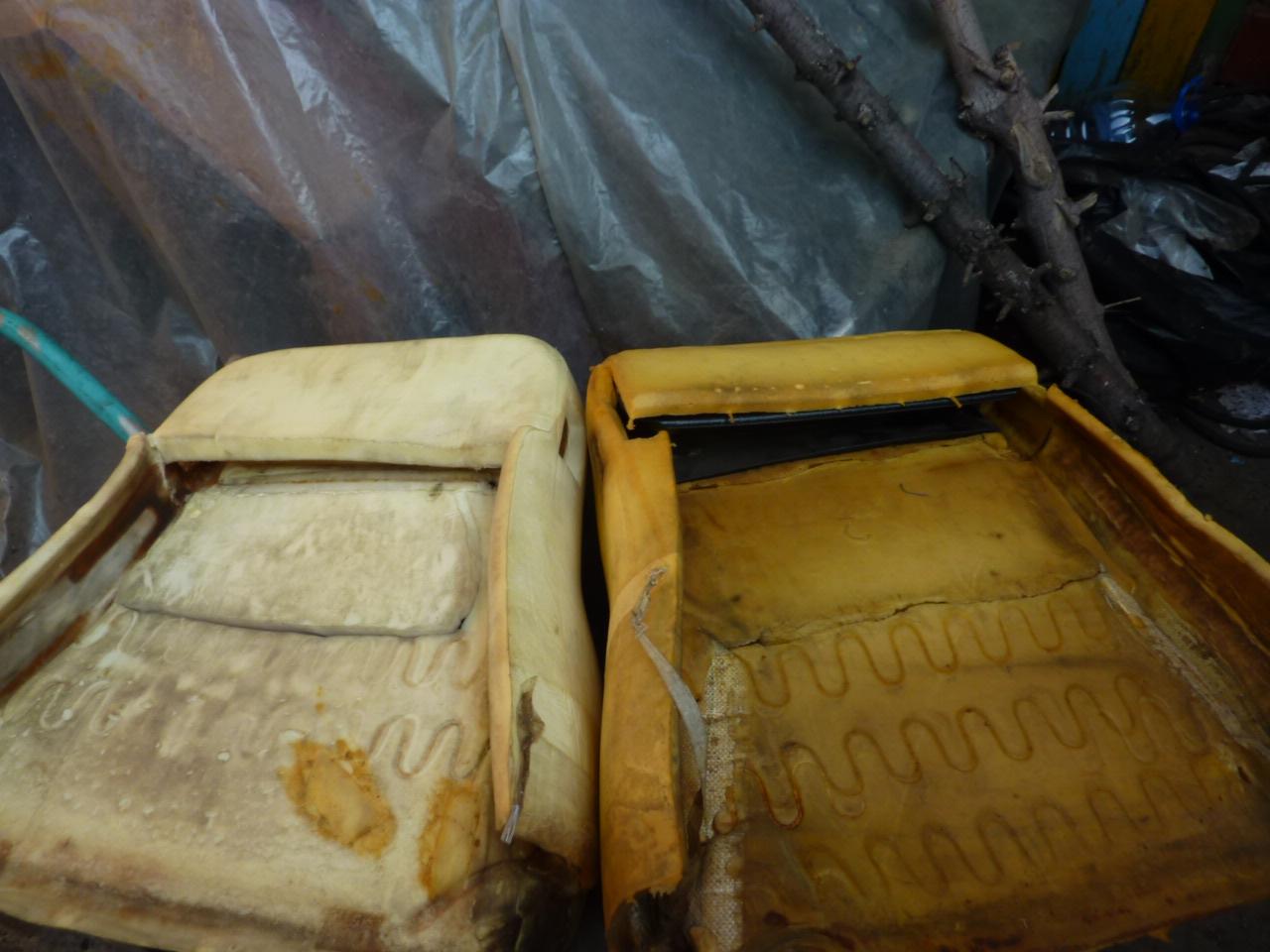 Набивка спинок сидений автомобиля Нива: вид изнутри