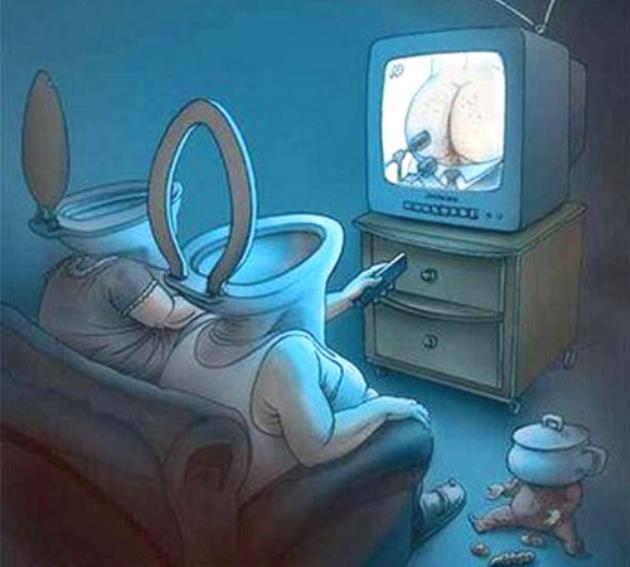 Подвид некоторых современных телезрителей и телевизора