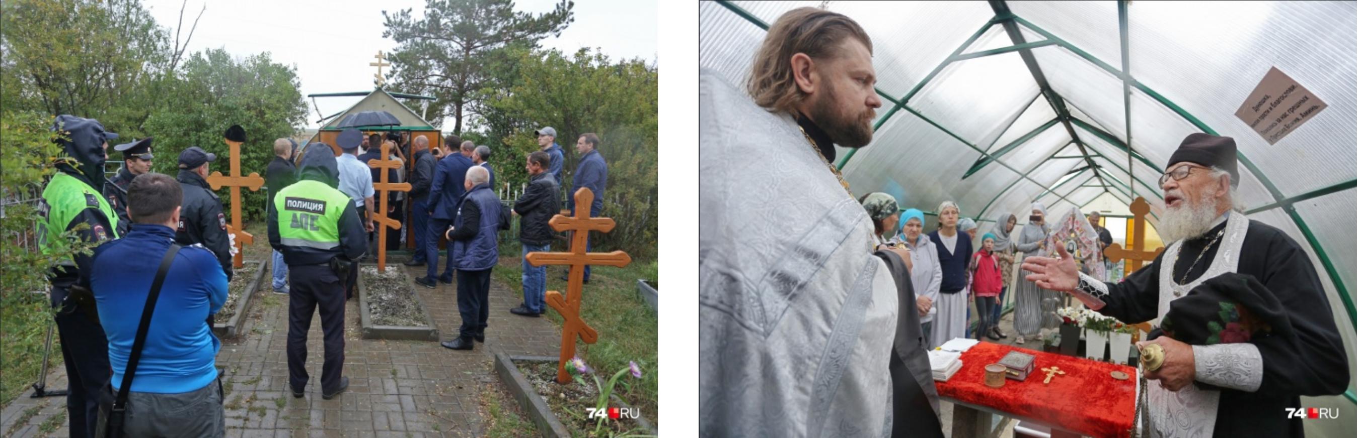 Полиция охраняет могилу святой Дунюшки от попыток незаконной эксгумации. И не стыдно тебе? Или ты уже совесть потерял? — гневно спрашивает отец Иоанн представителя Троицкой епархии